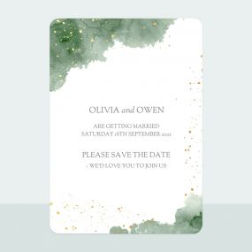 green-inkwash-foil-save-date-cards