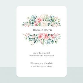 Summer Bouquet - Save the Date Cards