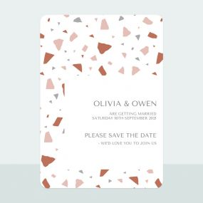 Terrazzo - Save the Date Cards
