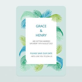 Tropical Fern - Save the Date Cards
