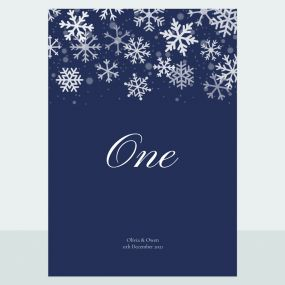falling-snowflakes-table-name-number