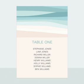 Abstract Beach - Table Plan Cards
