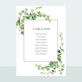 Ivy Garland - Table Plan Cards