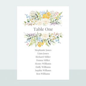 Spring Bouquet - Table Plan Cards