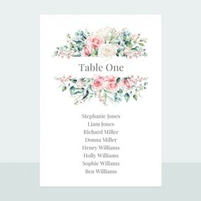 Summer Bouquet - Table Plan Cards
