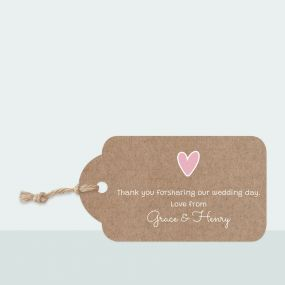 Rustic Bunting - Favour Tag