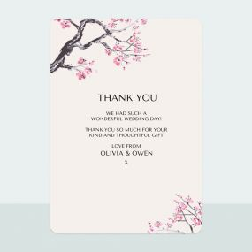 Cherry Blossom - Thank You Card