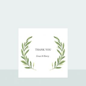 Olive Wreath - Thank You Card