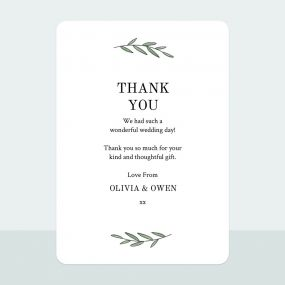 Simple Stem - Thank You Card