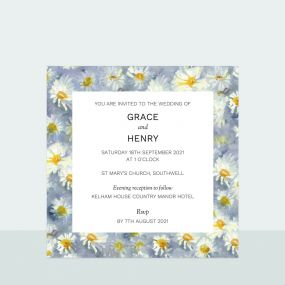 Daisy Border - Wedding Invitation
