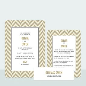 chevron-wedding-invitation-information-suite