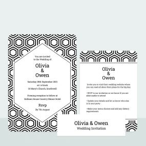 honeycomb-iridescent-wedding-invitation-information-suite