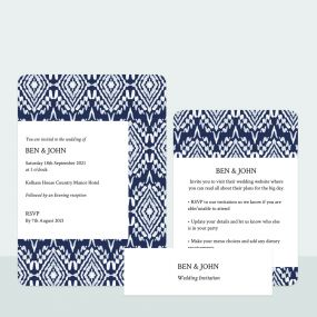 ikat-print-wedding-invitation-information-suite